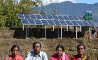 Solar panels are bringing 40,000 litres of water a day to families in Nepal