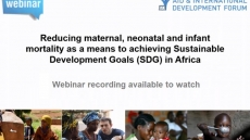 Reducing maternal, neonatal and infant mortality as a means to achieving SDGs in Africa
